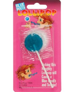 "Loftus Turn Your Mouth Blue Candy Lollipop 3.75"" Prank, Blue"