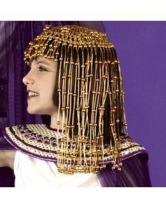 Star Power Cleopatra Egyptian Queen Halloween Costume Headpiece, Gold, One Size