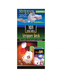 """Empire Magic 101 Tricks and Stripper 2pc 3.5"""" Trick Card Deck, Blue"""