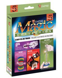 "Empire Magic Magician Starter Collection #5 Card Box 4pc 7"" Magic Set"