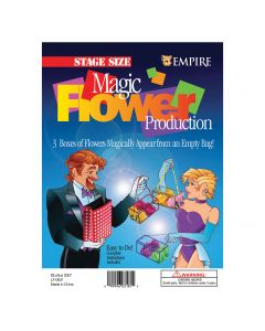 """Empire Magic Appearing Flowers From Empty Bag 4pc 10"""" Stage Magic Trick"""