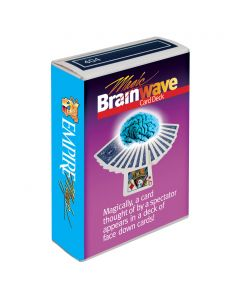 "Empire Magic Magic Brain Wave 2.5""x1.75"" Trick Card Deck, Blue"