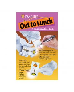 """Empire Magic Out to Lunch Indian Rope 2.5"""" Close-Up Magic Trick, Metallic"""