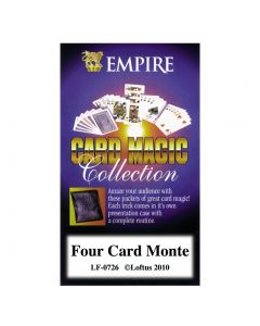 Empire Magic Four Card Monte Close Up Magician Instructional 4in Magic Set