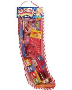 "Joker SOC-O-JOKES Full Of Jokes Christmas Stocking 11pc 22"" Gift Set, Red"