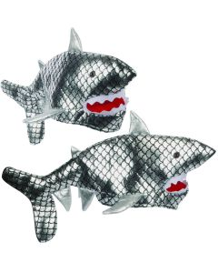 Loftus Shiney Silver Deep Sea Scary Shark Hat, Silver Pink White, One-Size