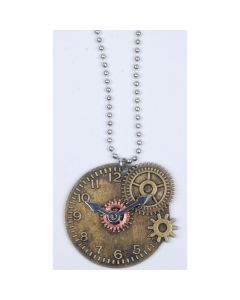 Loftus Time Wheel Necklace Necklaces, Bronze Silver, One-Size