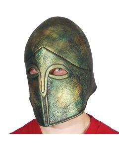 Loftus Metal Look Greek Battle Warrior Latex Costume Helmet, Bronze, One Size
