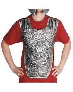 Loftus Roman Legion Battle Warrior Latex Chest Plate, Silver, One Size