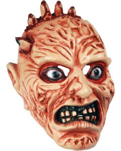 Star Power Bloody Monster Hand  Full Head Mask, Beige Pink Red, One Size