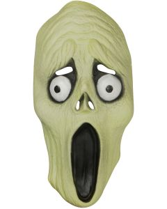 Star Power Screaming Glow in The Dark Latex Mask, Green, One Size