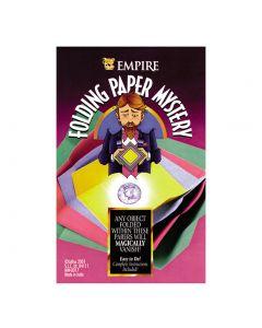 "Empire Magic Folding Paper Vanishing Coin Mystery 4pc 4"" Close-Up Magic Trick"