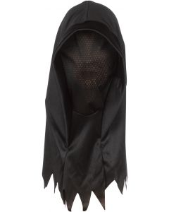 Star Power Ghoul Hood Halloween Costume Over Head Mask, Black, One Size