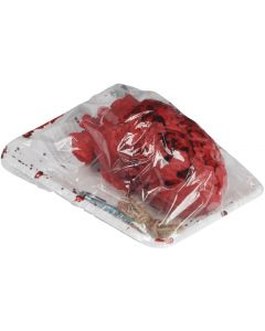 "Loftus Bloody Heart In Butcher Tray Halloween 7.5"" Decoration Prop, Red"