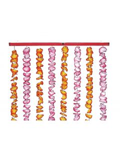 "Loftus Hawaiian Flower Luau Party Hanging Decoration 78"" Curtain, Pink Orange"