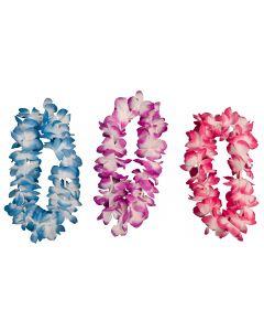 "Loftus Hawaiian Colorful Luau Headbands 14"" Fabric Leis, 12 CT"