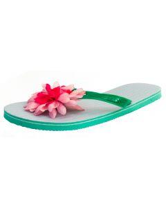 Star Power Adult Hawaiian Luau Flip Flop Flower 2pc Sandals, One Size