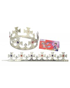 Loftus Large Cross Jewel Encrusted Royal Crown, Gold, One Size