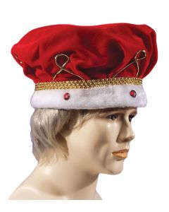 Loftus Soft Royal Jewel Encrusted King Crown, Red White, One Size