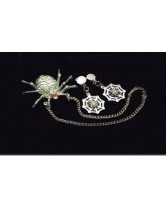 Loftus Spider Necklace and Earrings 3pc Accessory Kit, Silver, One Size