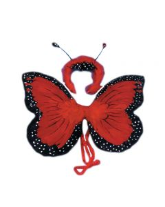 Loftus Butterfly Wings & Headband 2pc Accessory Kit, Red, 18in