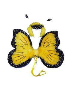 Loftus Butterfly Wings & Headband 2pc Accessory Kit, Yellow, 18in