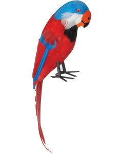 Loftus Pirate Shoulder Parrot with Feathers Costume Prop, Red Multi, One Size
