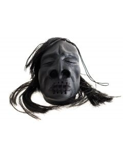 "Loftus Mini Shrunken Head Hanging Halloween 3"" Decoration Prop, Black"