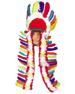 Loftus Large Traditional Indian Chief Headdress, Rainbow, One Size
