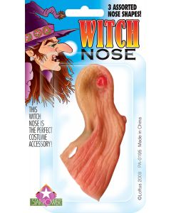 Star Power Costume Wrinkly Old Halloween Witch  Nose, Beige, One Size