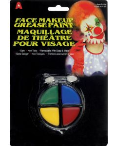 Veil Entertainment Halloween Clown Grease Face Paint 6g Makeup Palette, 12 Pack