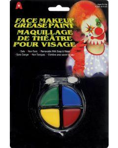Veil Entertainment Halloween Clown Grease Face Paint 6g Makeup Palette, 12 Pack