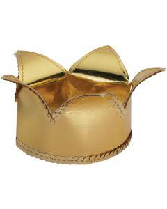Loftus Mini Minimalist Royal Curved Tiara Crown, Gold, One Size 4.75in