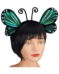Loftus Halloween Cosplay Butterfly Antenna Costume Headband, Blue, One Size