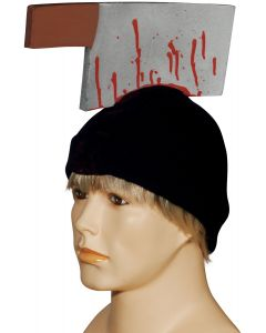 Loftus Cleaver in Head Beanie Halloween Costume Hat, Black, One Size
