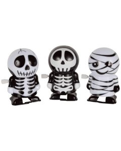 Loftus Wind-Up Walking Skeleton/Mummy Wind-Up Toy, Black White, 12 CT