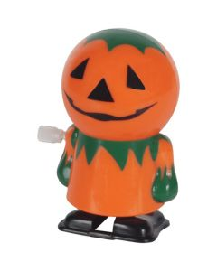 "Halloween Wind-Up Walking Pumpkin 2.5"" Wind-Up Toy, Orange Green"