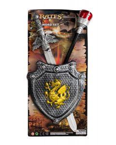 Crusading Warrior Sword Shield Sceptre 3pc Child Accessory Set, Silver