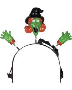 "Loftus Halloween Flashing Witch Headband Boppers, Green, One Size 4.5"""