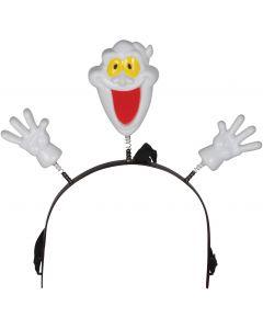 "Loftus Halloween Flashing Ghost Headband Boppers, White, One Size 4.5"""