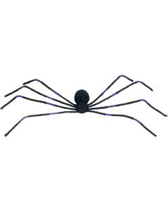 "Loftus Huge Shaking Spider With Light Up Eyes 50"" Animated Prop, Black Purple"