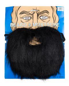 Loftus Lumberjack Mountain Man Beard & Moustache Set, Black, One Size