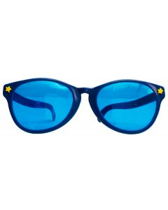 Veil Entertainment Jumbo Party Clown Costume Novelty Sunglasses, One-Size, Blue