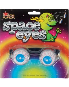 Loftus Spring Space Eyes Bloodshot Eyeballs Novelty Glasses, Blue, One Size