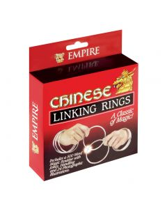 Empire Magic Classic Chinese Linking Rings 8pc 4in Magic Set, Silver