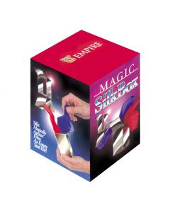 Empire Magic Silk Appears From Empty Metal Box Magic Set, Silver