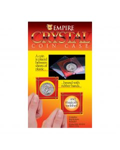 Empire Magic Disappearing Crystal Coin Case Close-Up Magic Trick, Red