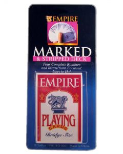 "Loftus Magic Marked and Stripped Deck 3.5"" Card Game, Red White"