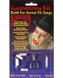 Dental Fit Fangs 6pc One Size Customizing Refill Kit, Transparent White