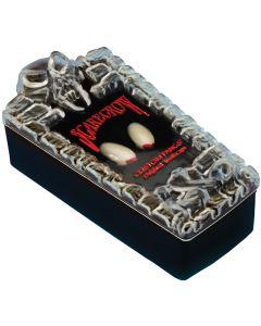 "Classic Blood Tip Vampire 10pc Standard .75"" Custom Fangs Coffin Kit, White Red"